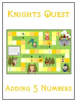 Knight's Quest Math Folder Game - Common Core - Adding Thr