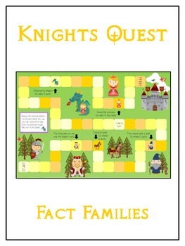Knight's Quest Math Folder Game - Common Core - Fact Families