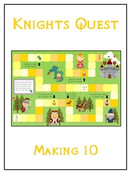 Knight's Quest Math Folder Game - Common Core - Making Ten