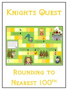 Knight's Quest Math Folder Game - Common Core - Rounding t