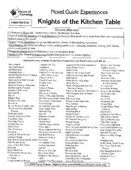 Knights of the Kitchen Table Literature Guide
