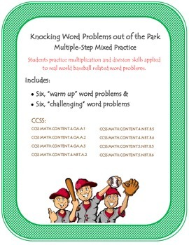 Knocking Word Problems Out of the Park: Multi-step problem