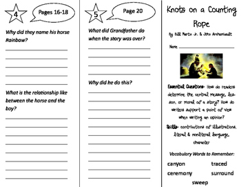 Knots on a Counting Rope Trifold - ReadyGen 2016 3rd Grade