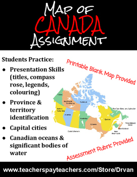 Know Your Country: Map of Canada Assignment (& Accompanying Quiz)