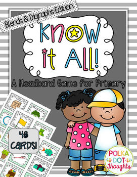 Know-it-All Headband Game {Blends & Digraphs Edition}