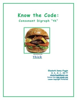 """Know the Code: Consonant Digraph: """"th"""""""