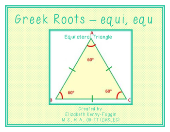 Know the Code:  Greek -equi, equ