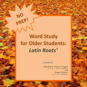 Word Study for Older Students: Know the Code: Latin Roots Bundle!