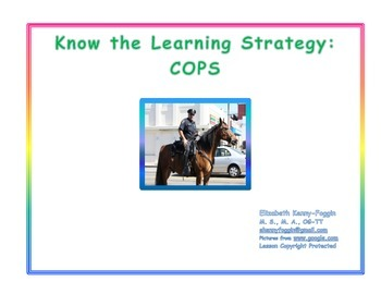 Know the Learning Strategy: COPS