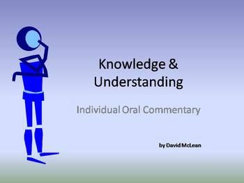 Knowledge and Understanding - IB Oral