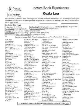 Koala Lou Literature Guide
