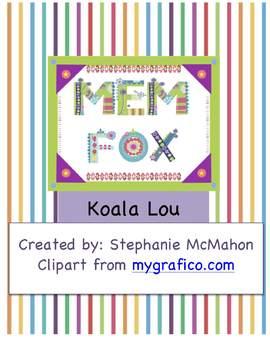 Koala Lou by Mem Fox plan