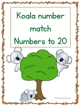 Numbers to 20 Cute Koalas