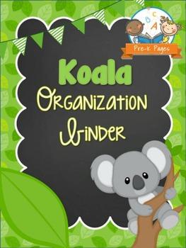 Koala Student Organization and Parent Communication Binder
