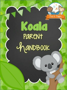 Koala Theme Parent Handbook Back-to-School {personalize it}