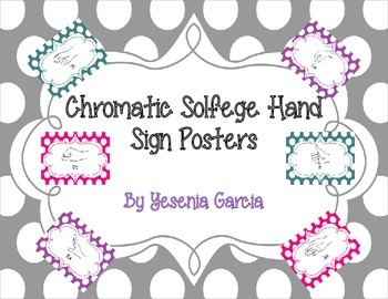 Kodaly Chromatic Solfege Hand Sign Posters (In 3 Colors)-