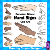 Kodaly / Curwen Hand Signs Clipart