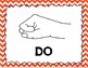 Kodaly / Curwen / Solfege Hand Sign Posters (Chevrons Smal