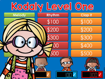 Kodaly Level 1 GAME SHOW - interactive powerpoint ta, ti-t