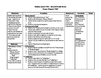 """Kodaly - Lesson Plan for Preparing & Practicing """"Do"""""""