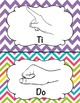 Kodaly Solfege Hand Sign Posters - Chevron Design