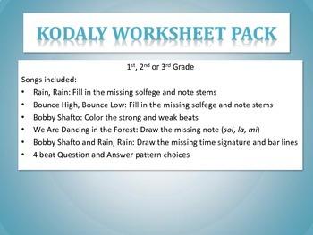 Kodaly Worksheet Pack