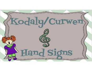 Kodaly/Curwen Hand sign posters with Chevron Border