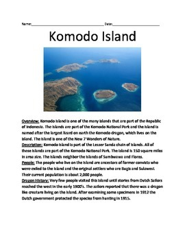 Komodo Island - Informational Article Facts History Animal