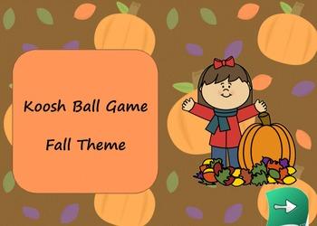 Fall Theme Koosh Ball Game Smart Board Lesson