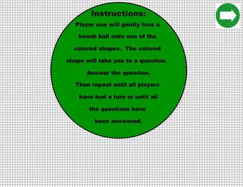 Koosh Ball Geometry Smartboard