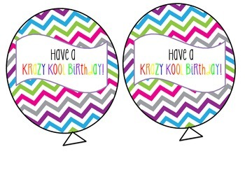 Krazy Kool Birthday Balloon