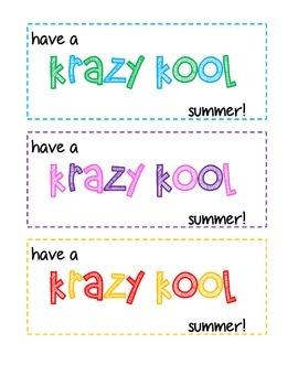 Krazy Kool Summer Gift Tags