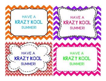 Krazy Kool Summer Labels
