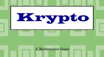 Krypto Higher Order Thinking math game Flipchart