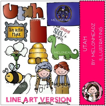 Krystal's Utah by Melonheadz LINE ART