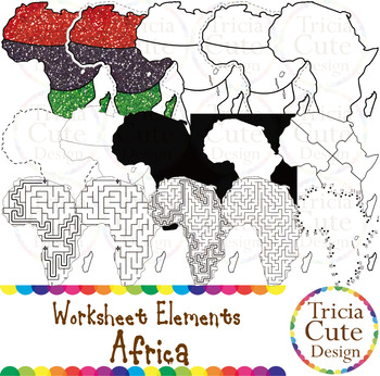 Black History Month Clip Art Kwanzaa Africa Worksheet Elements