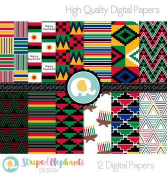 Kwanzaa Digital Papers