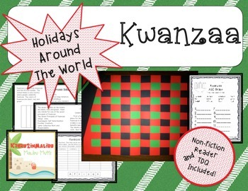 Kwanzaa Mini Unit with Printable Book and Craftivity-Commo