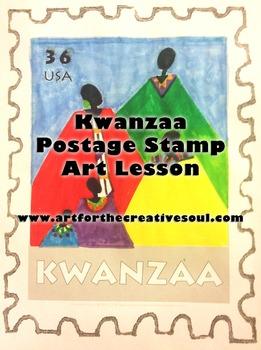 Kwanzaa Postage Stamp Art Lesson