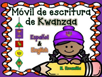 Kwanzaa Writing Mobile in Spanish & English