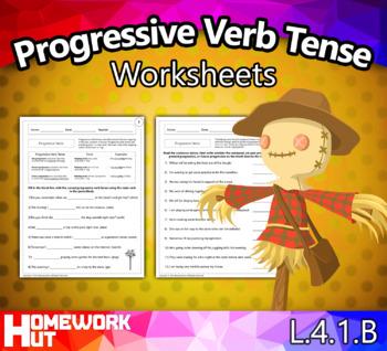 L.4.1.B - Progressive Verb Tense Worksheets