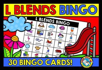 L BLENDS ACTIVITIES: L BLENDS BINGO GAME FOR WHOLE CLASS: