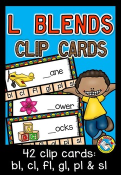 L BLENDS CLIP CARDS: PHONICS CENTERS: L BLENDS ACTIVITIES: