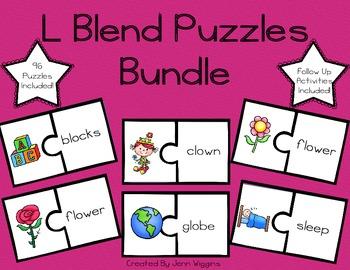 L Blend Bundle Pack ~ 96 Puzzles Plus Activities!