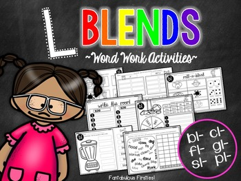 Word Work for Beginning Blends:  L Blends