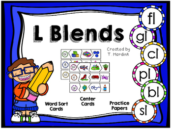 L Blends - Centers and Printables by Tara Hardink