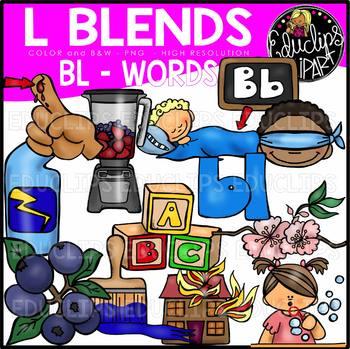 L Blends BL Words Clip Art Bundle