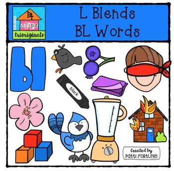 L Blends BL words {P4 Clips Trioriginals Digital Clip Art}