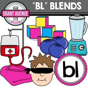 L Blends Clipart - BL Words Clipart