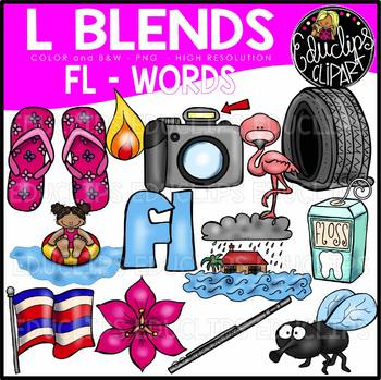L Blends FL Words Clip Art Bundle